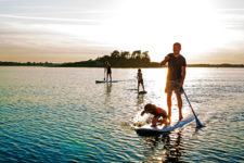 paddle gonflable famille